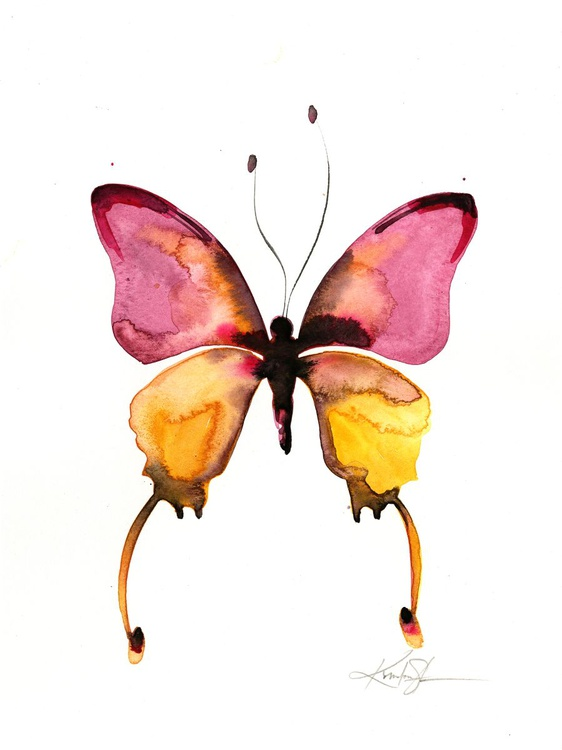 Watercolor Butterfly 10 - Abstract Butterfly Watercolor Painting - Image 0