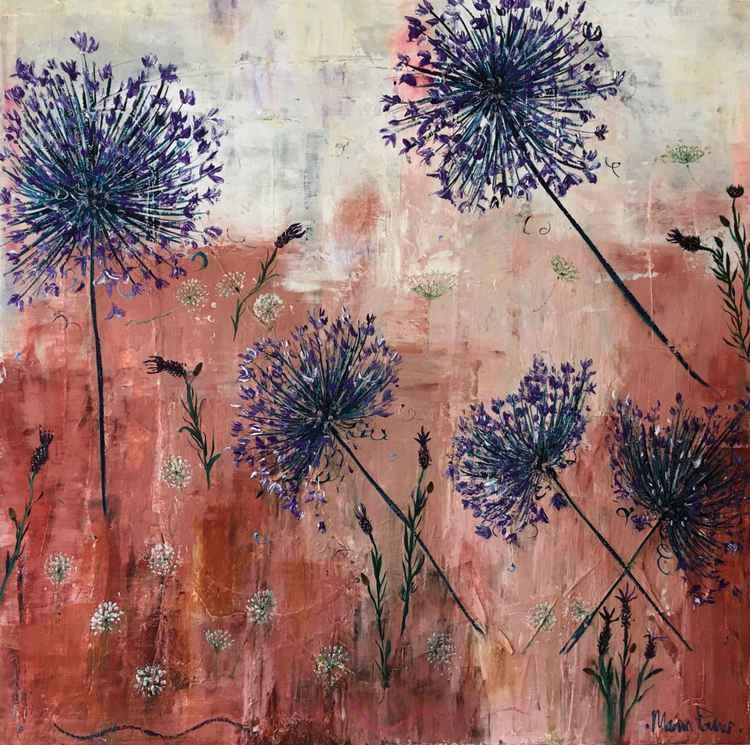 Agapanthas, Lavender & Dandelions -