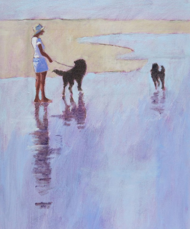 Two Dogs, Sand and Sea - Image 0