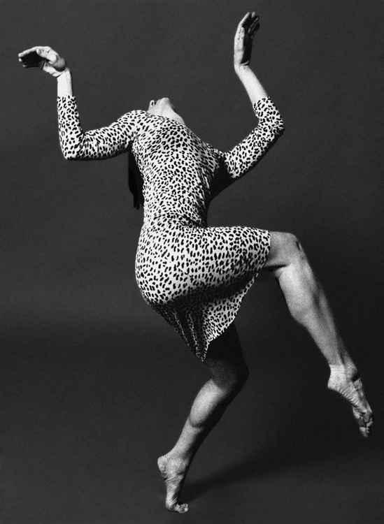 Dancer in a Leopard Print Dress -