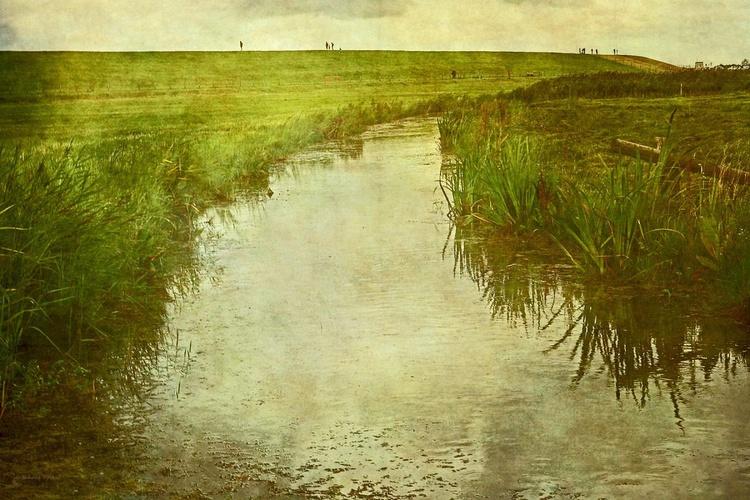 Summer Rain at the Dike - Canvas 75 x 50 cm - Image 0