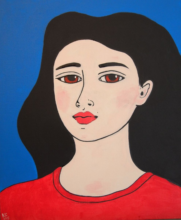 Girl in a Red T-shirt - Image 0