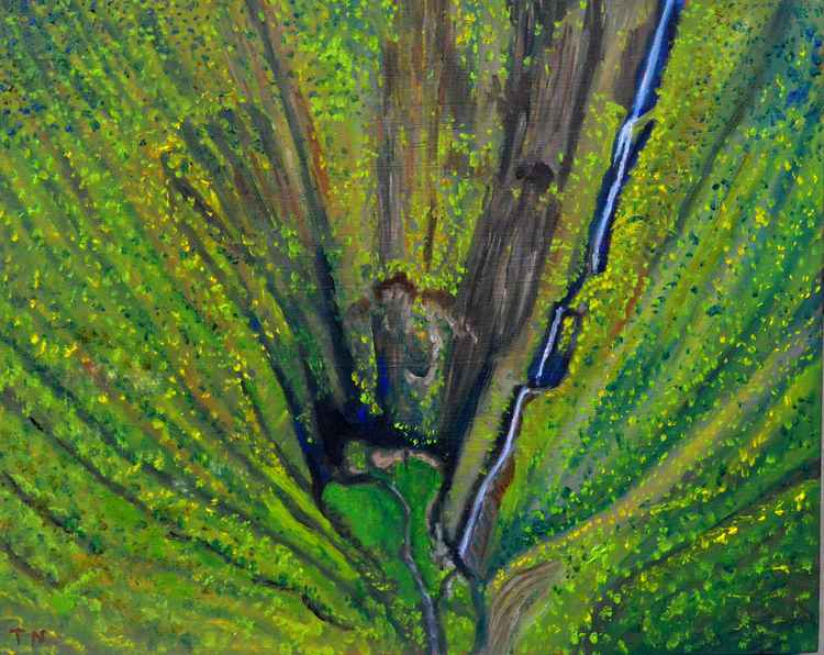 Vertigo -waterfalls - plein air painting -