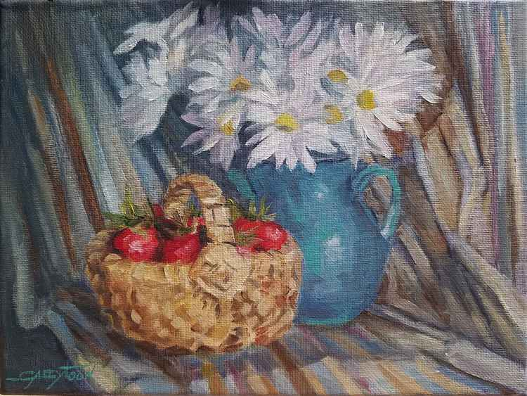 Still Life With Strawberries -