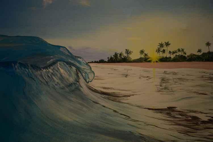 the dawn on the beach -