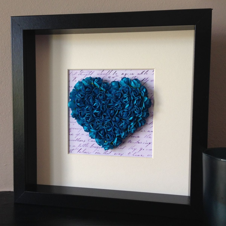 Old letter of Love, 2014 Heart of Roses (Blue) - Image 0