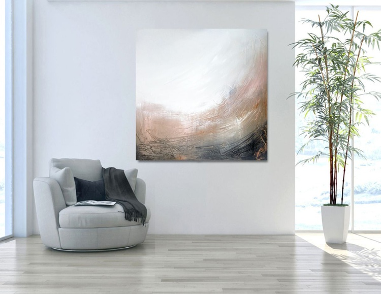 Earth series Textured abstract painting - Image 0