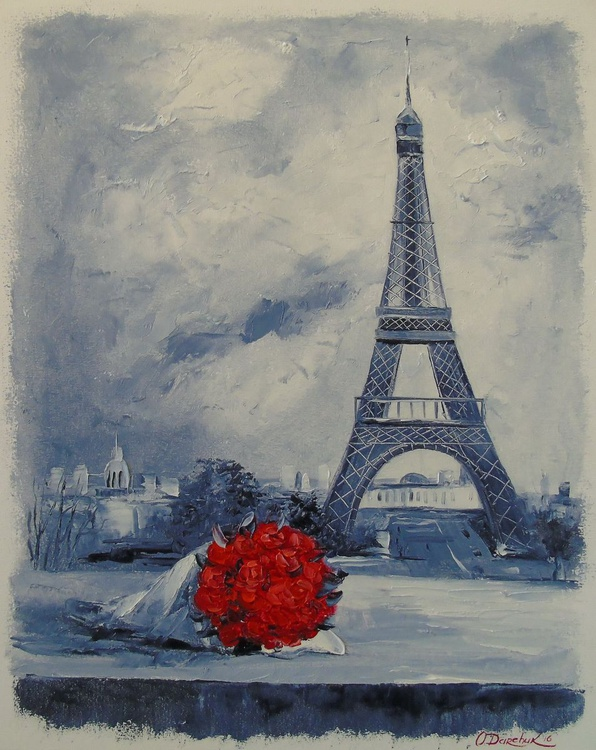 Bouquet of red roses for Parisian women - Image 0