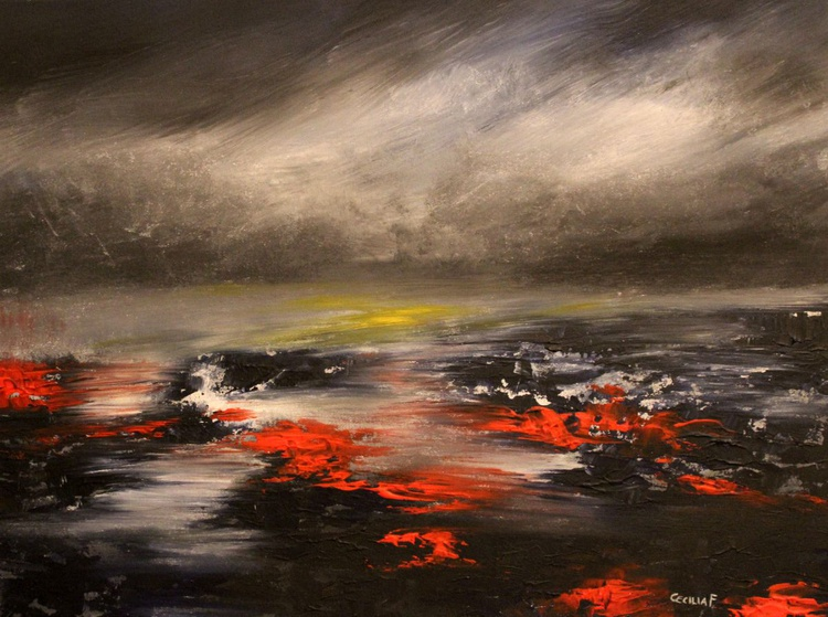 The sea next door - abstract painting - Image 0