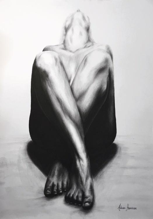 Nude Woman Charcoal Study 22 - Image 0