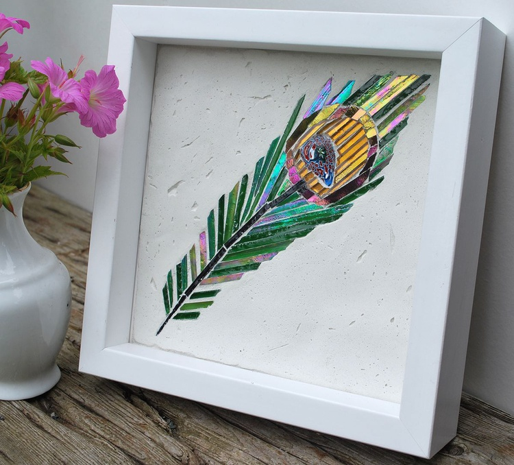 Peacock Feather Mosaic - Image 0