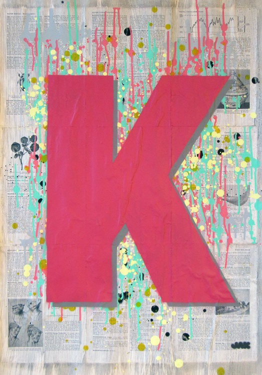 K - Helvetica Heavy Condensed - Image 0