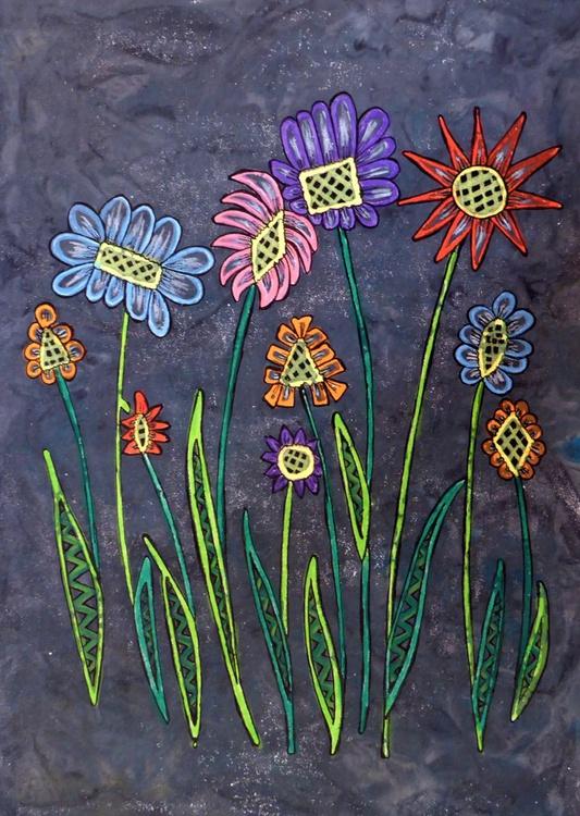 Bright flowers - print 1 - Image 0