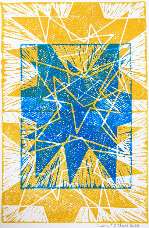 Blue and Yellow Stars - Image 0