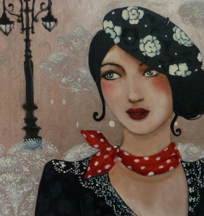 Rouge Baiser acrylic on canvas 40x40cm - Image 0