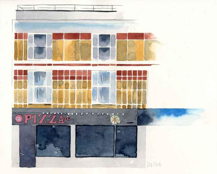 GB Pizza, Margate Watercolour -