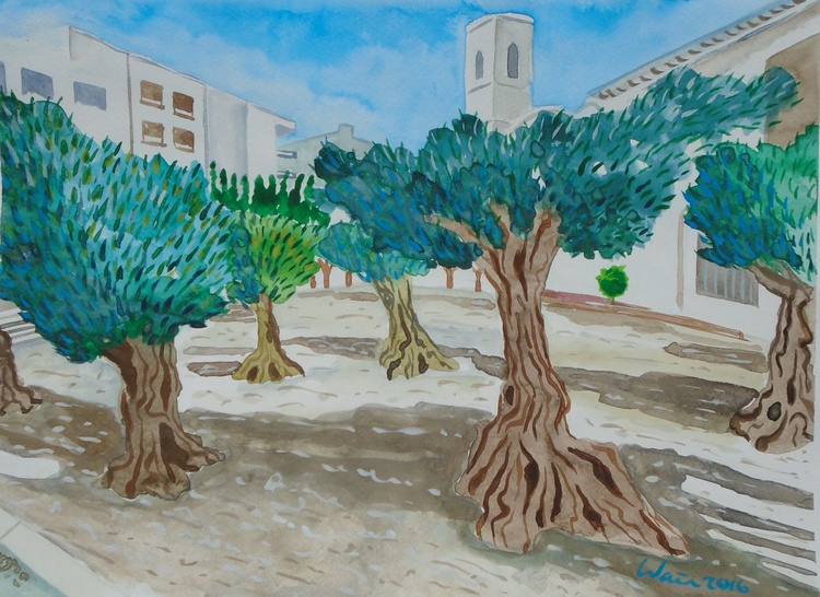 Olive trees in Altea town - Image 0