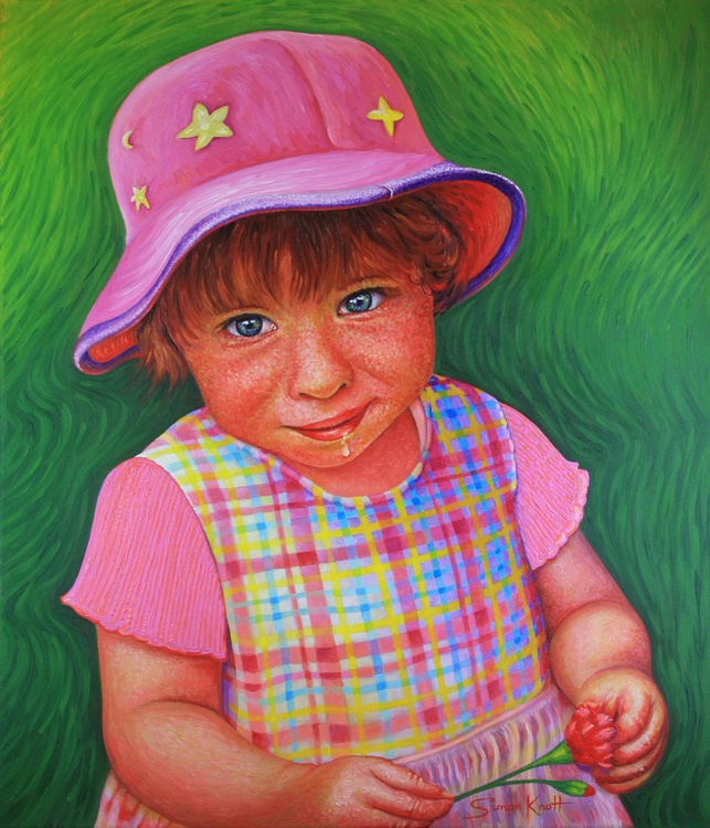 Georgina in Pink Summer Dress and Hat - Image 0