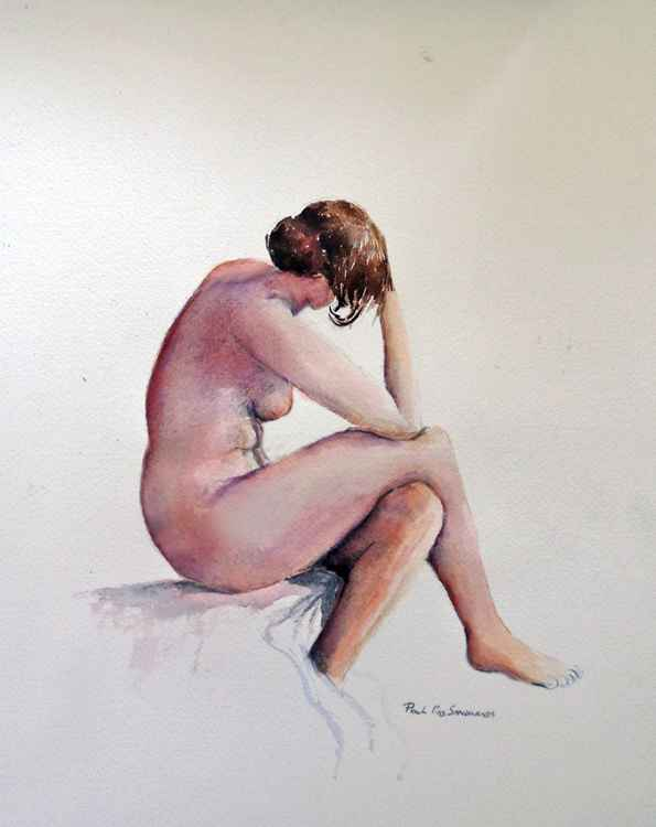 Nude study in watercolor two