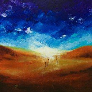 3 MONKS ....Towards Enlightenment by Aarti Bartake