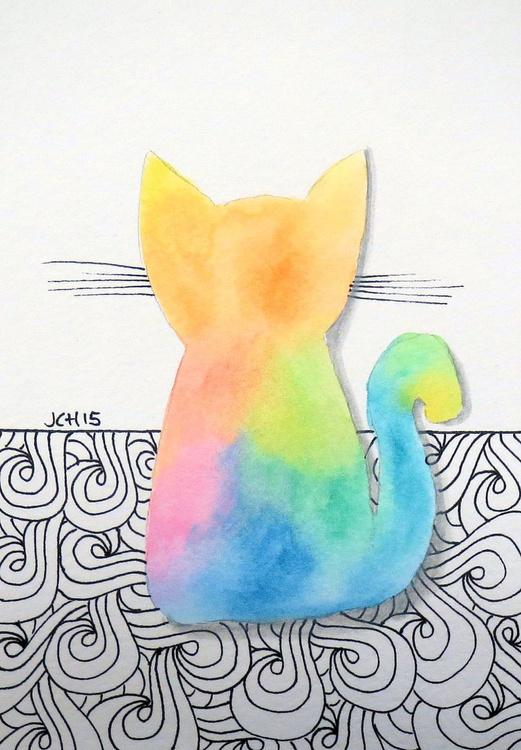 Tie Dye Kitten with Swirls - Image 0