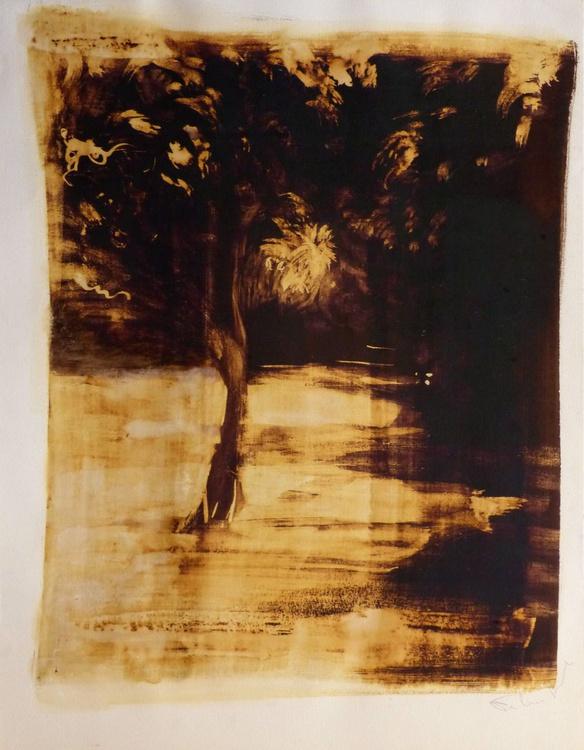 Dream Landscape, ink on paper 65x50cm - Image 0