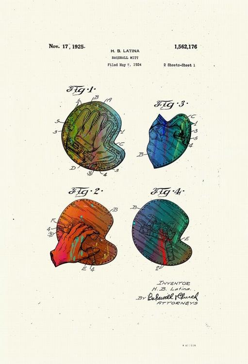 Baseball Mitt Patent drawing - Circa 1924 - Image 0