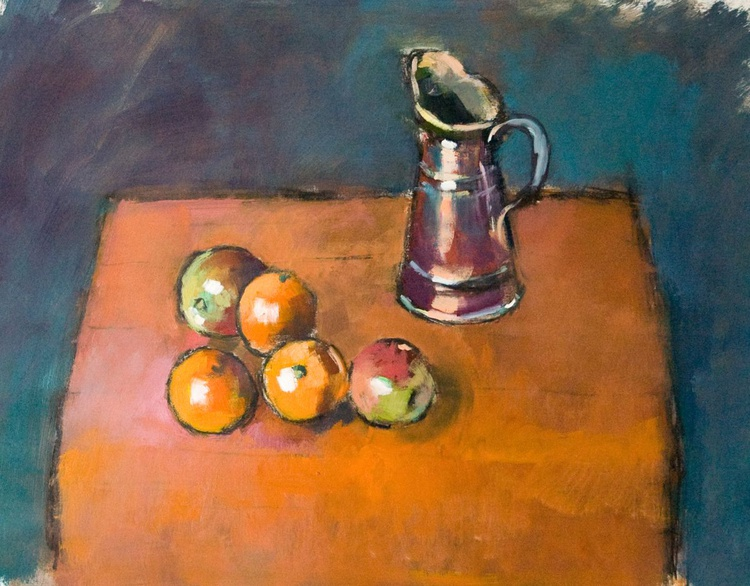 Fruit and Copper Jug - Image 0
