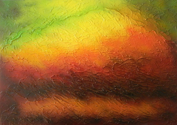 A New Dawn - Original, unique, large modern colorful abstract fine art painting - Image 0