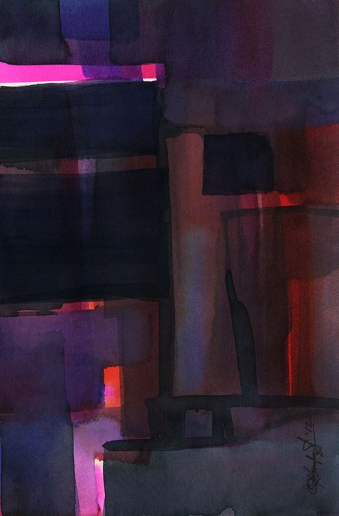 Watercolor Abstraction No. 216 - Image 0