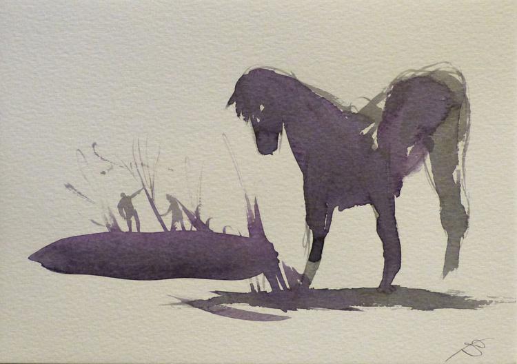 Horse 5, 21x15 cm - Image 0