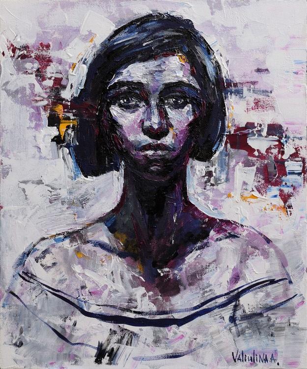 Woman portrait painting - Image 0