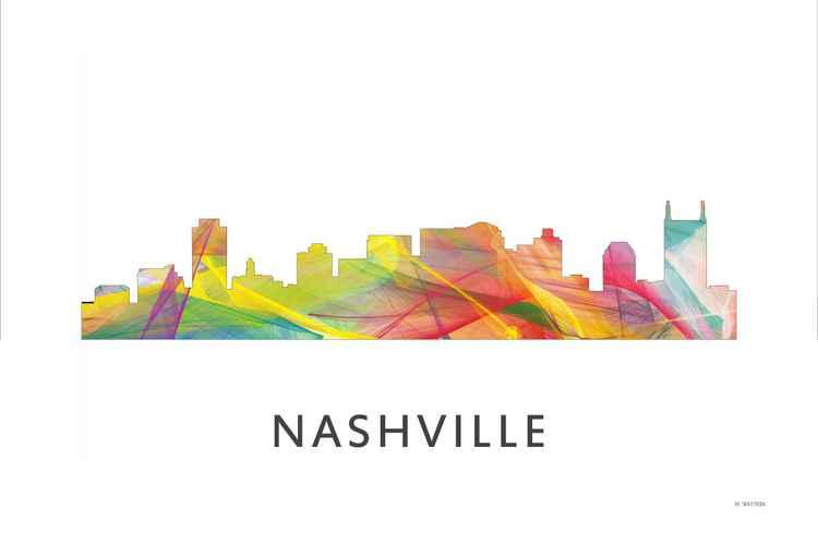 Nashville Tennessee Skyline WB1