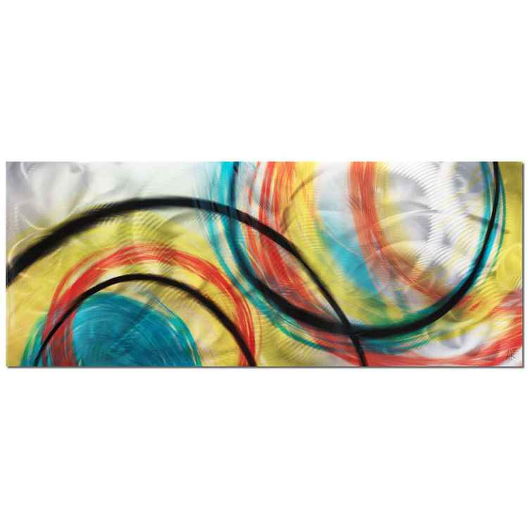 Rainbow Seasons | Colorful Circles Abstract Art, Giclée on Metal