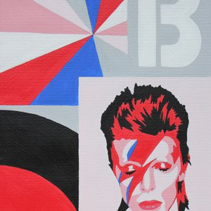 Wave of Phase, a portrait of David Bowie by Anna-Marie Bush