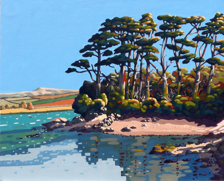 Pines on the River Camel, Cornwall - Image 0