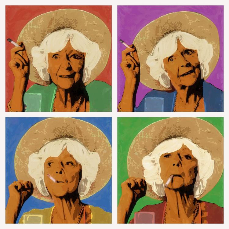 Pop Art Madge (Delilah Harvey - Benidorm), Portrait - 23.5 inch Square Edition of 20 - Image 0