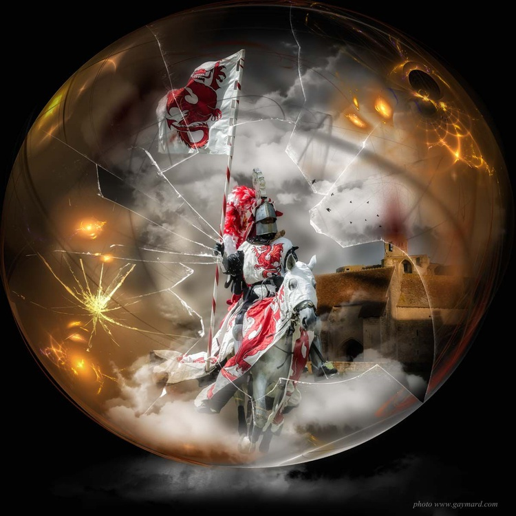 The knight in the bubble / paper - Image 0