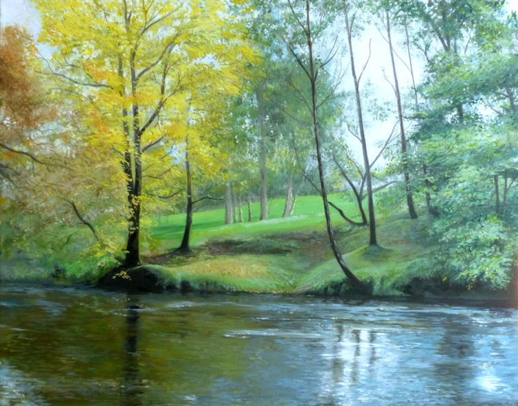 Autumn on the Riverbank - SOLD - Image 0