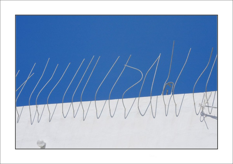 From the Greek Minimalism series: Greek Architectural Detail (Blue and White) # 20, Santorini, Greece - Image 0