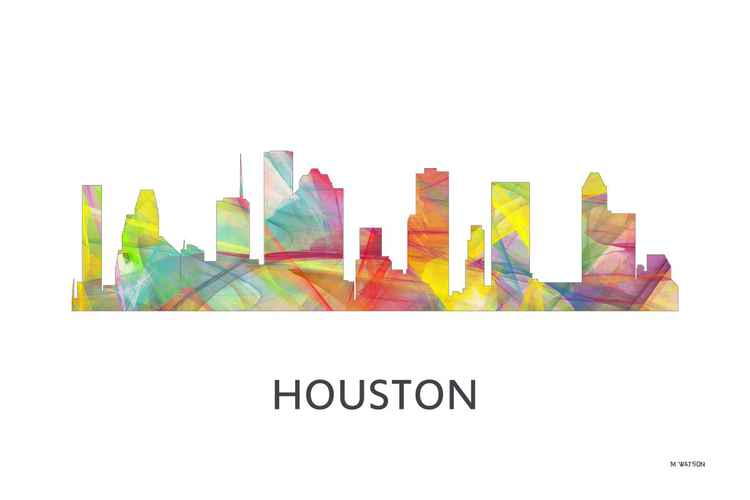 Houston Texas Skyline WB1 -