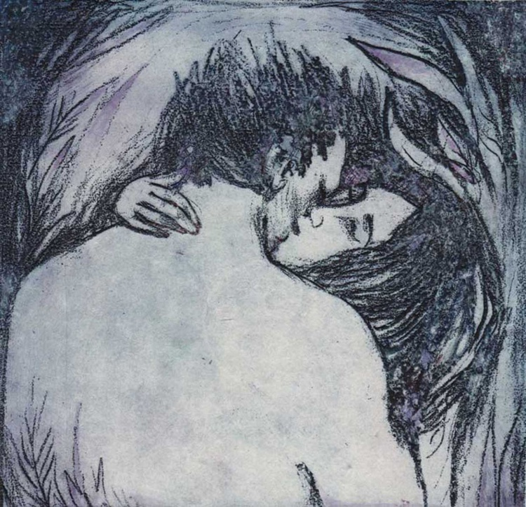 Kiss - Lovers limited edition etching of two lovers - Image 0