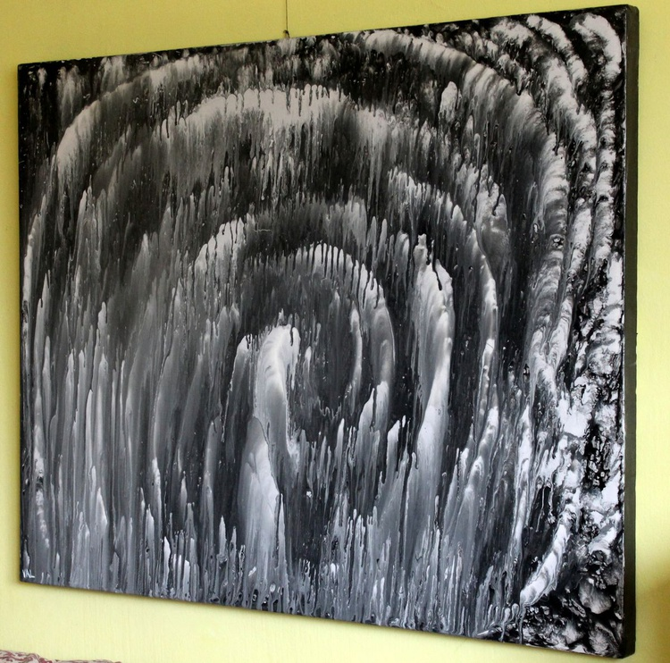 Whirlpool-  Large Original Abstract Painting, 100cm x 80cm x 4cm Deep Edge Gallery frame - Image 0