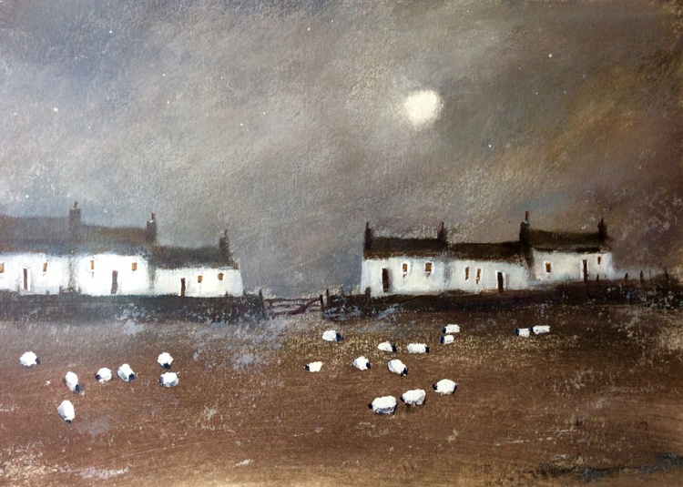 Moon over Shepherds Cottages - Image 0