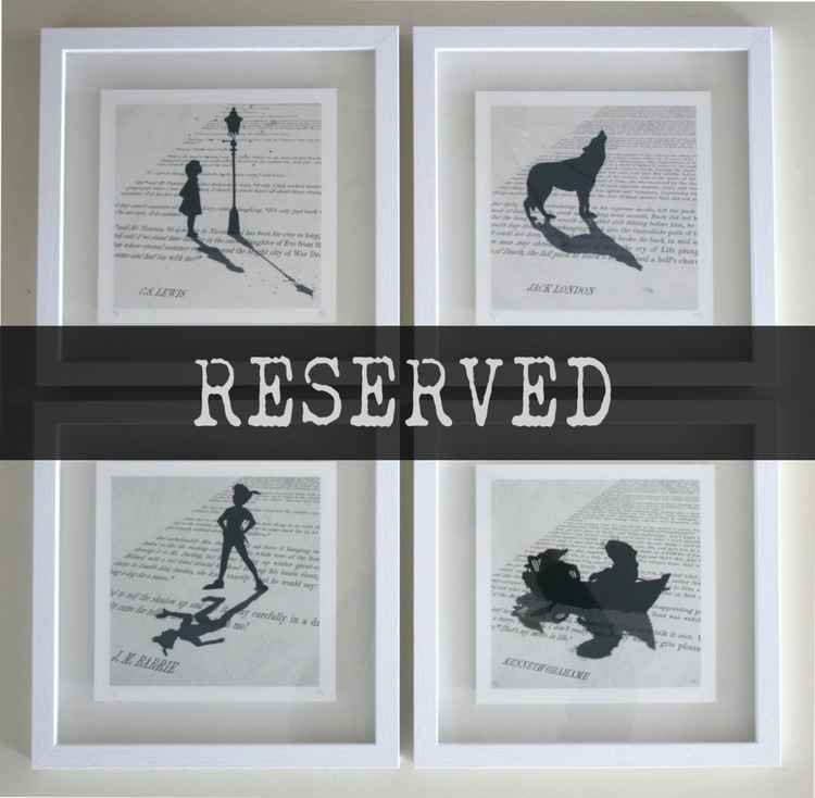 RESERVED - 4 Framed Prints -
