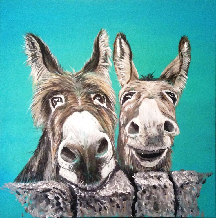 Nosey Neds 24 x 24 inch Acrylic on Canvas - Image 0
