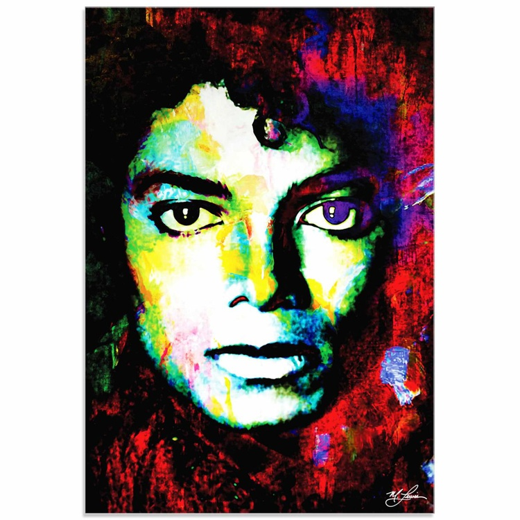 Mark Lewis 'Michael Jackson Study' Limited Edition Pop Art Print on Acrylic - Image 0