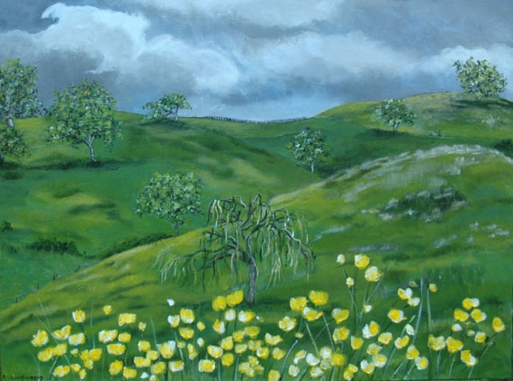 Rolling Hills Medium Size Painting - Image 0