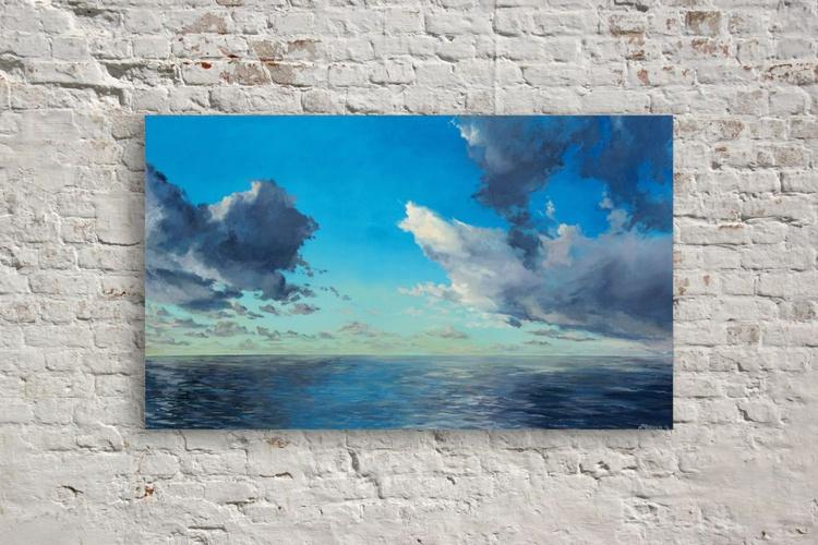 Original artwork Seaside painting, cloudscape, seascape - Image 0