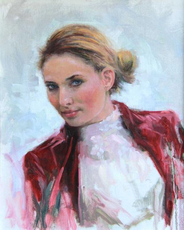 Come A Little Closer Young Woman Portrait - Image 0